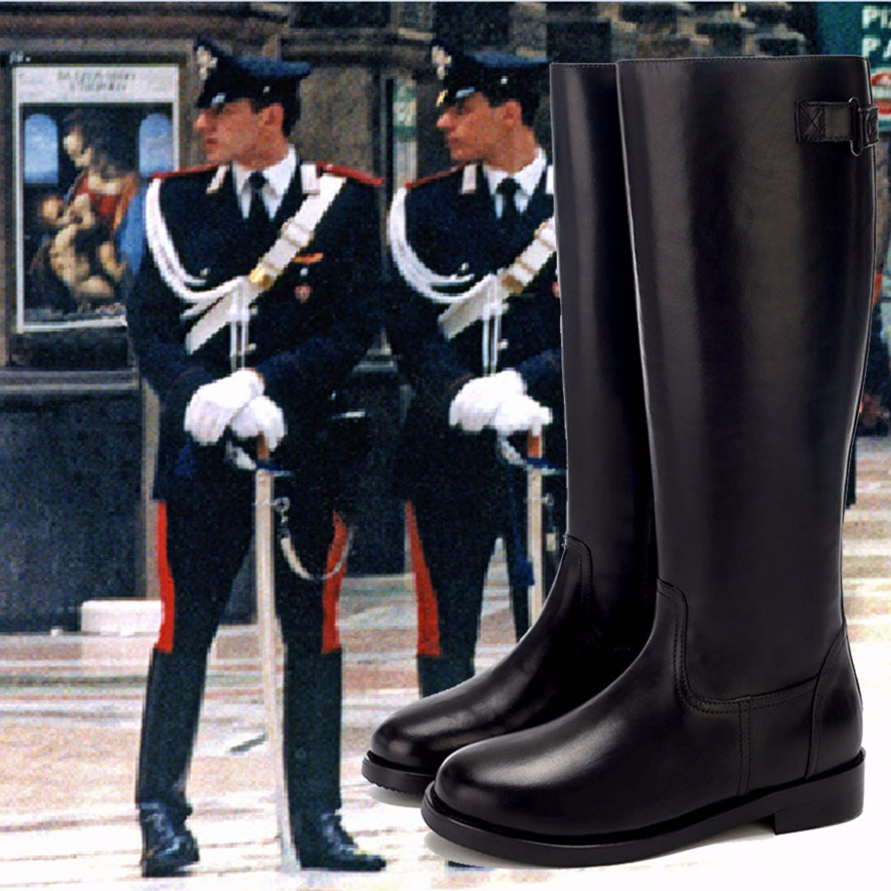 Mens Baroque Party Boots British High Riding Boots Long Martin PU Leather Boots Soldier Boots Knight Pointed Toe Cosplay Shoes