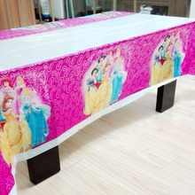 Princess Party Supplies Disposable Tablecloth Kids Birthday Decoration Baby Shower Favors Girls 108x180cm