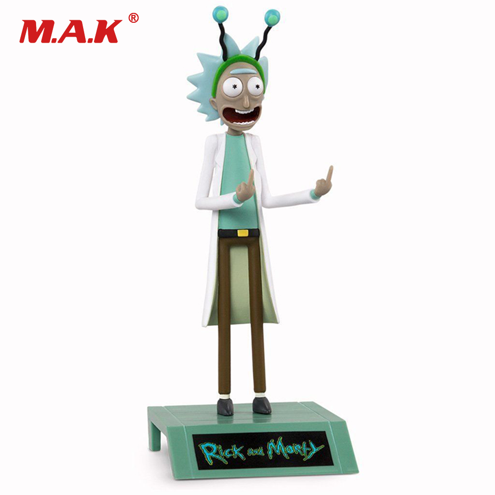 16cm Anime Figure Adult Swim Cartoon Rick and Morty Peace Among Worlds Season 2 Rick Sanchez PVC Collectible Boxed Model Figure
