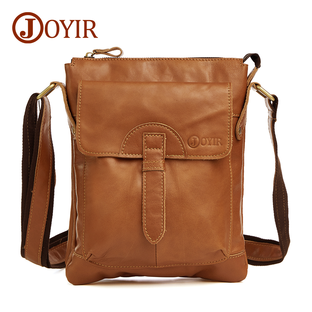 JOYIR 100% Genuine Leather Bag Cowhide Shoulder Men Bags Luxury Leather Messenger Crossbody bags Brown Travel Bag for Man 8692 blundstone 1320 premium crazy horse gum
