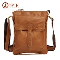 JOYIR 100% Genuine Leather Bag Cowhide Shoulder Men Bags Luxury Leather Messenger Crossbody bags Brown Travel Bag for Man 8692