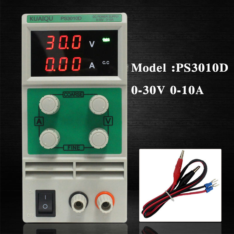 KUAIQU PS3010D 30V 10A mini variable DC Switching Power Supply transformers Adjustable laboratory Digital Variable transformersKUAIQU PS3010D 30V 10A mini variable DC Switching Power Supply transformers Adjustable laboratory Digital Variable transformers