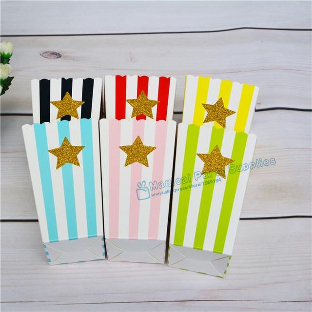 120pcs Popcorn Clipart Movie Theater Clip Art Glitter Star Heart Box Rainbow Color Commercial