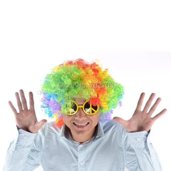 Kostümzubehör Afro Rainbow Mehrfarbige - Partyartikel und Dekoration - Foto 3