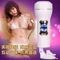 2016 JiuAi Novos brinquedos do sexo para homens macho copo aeronave masturbação seu sexo brinquedo produtos adultos do sexo vagina e vulva 4d handsfree