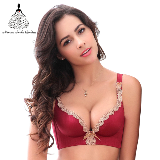 93e0831bb809d Seamless Women Bra One-Piece Push Up Bra Lace Bralette Adjusted Lingerie  Plus Size C Cup Intimates Female Bra Tops lingerie