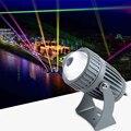 Moderno 220v 110v LED a prueba de agua 10w al aire libre RGB lente de vidrio proyector pared arandela luz para la boda de la calle decoración