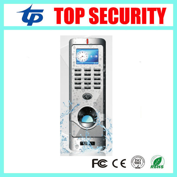 IP64 waterproof fingerprint access control system TCP/IP color screen biometric door access controller with RFID card reader tcp ip biometric face recognition door access control system with fingerprint reader and back up battery door access controller