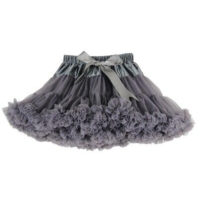 ; пышные шифоновые юбки-американки для малышей; 21 цвет; юбки-пачки для девочек; фатиновая юбка принцессы для танцевальной вечеринки; Нижняя юбка; - Цвет: smoky gray