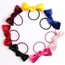 LNRRABC 2018 new kawaii girl hair rope gold velvet soft high quality cute accessories boutique