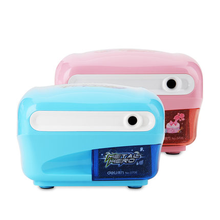 0706 Deli New Cartoon Electric pencil sharpener Stationery School Supplies Pencil Sharpeners Creative Automatic Desktop