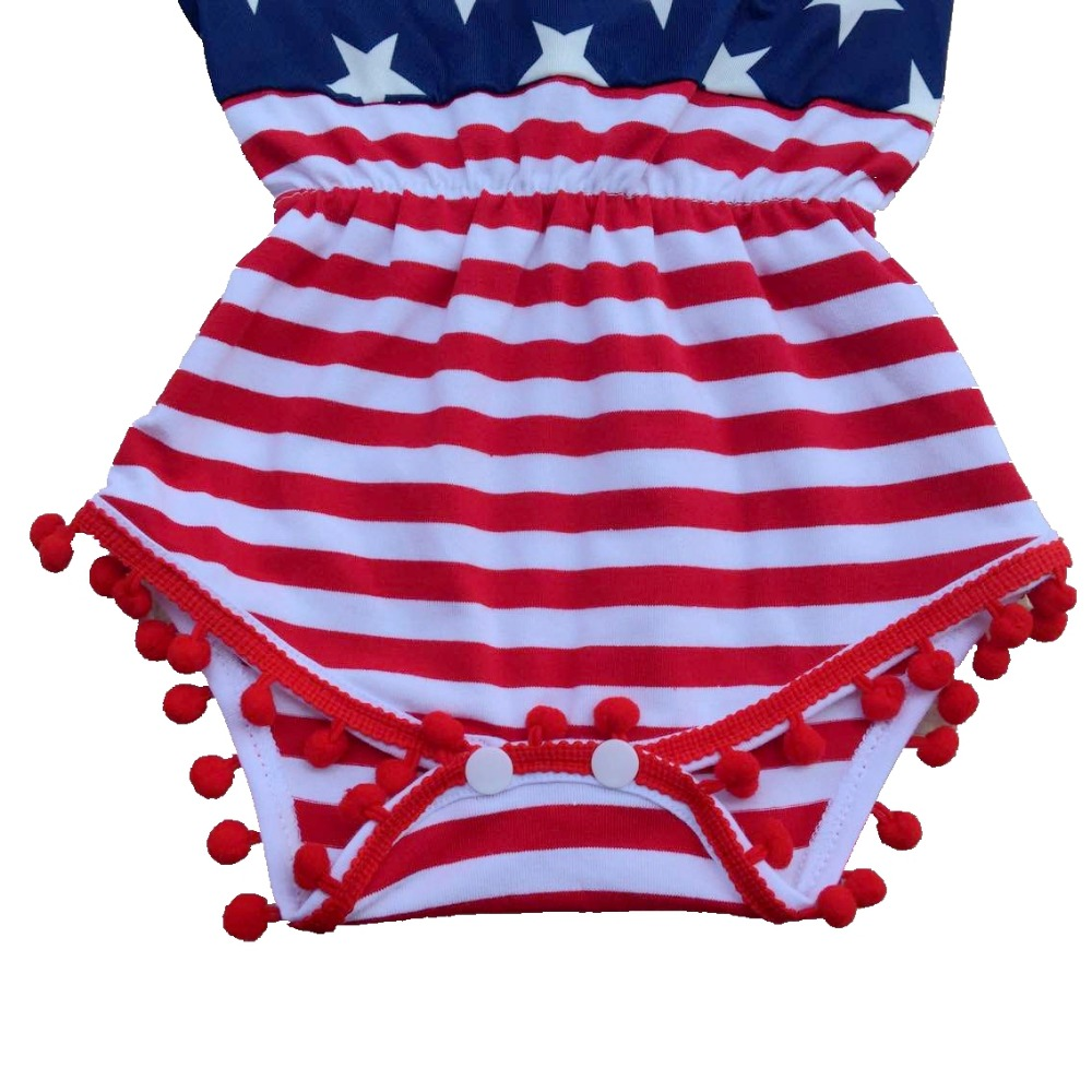 Baby Girl fourth of july outfits Independence Day summer Romper