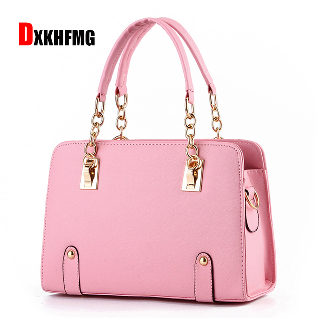 The Latest Fashion Handbags Casual Wild Leather Bag Brand Rivet Chain Shoulder Bagss For