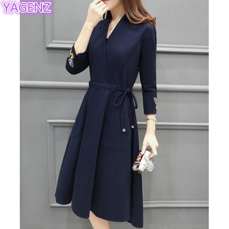 YAGENZ Fashion Gaun Elegan Kupu-kupu Bordir Dresses Plus ukuran Gaun - Pakaian Wanita - Foto 2
