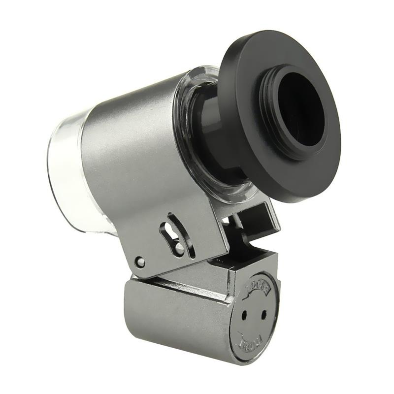 Universal Mobile Phone 65X Zoom Microscope Magnifier Micro Lens Optical Telescope Camera Lens With LED light For Smartphone 7