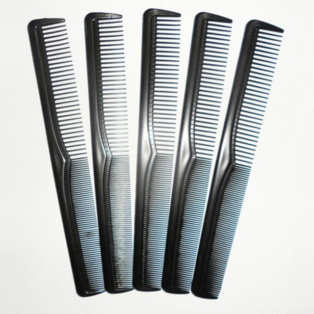Men Women Salon Black Plastic Cutting Hair Tooth Comb Barber Tool Hairdressing Hair Brush detangling hair brush  combs 1