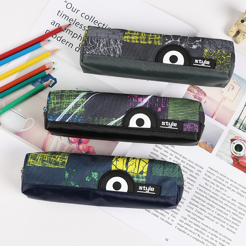 TOPSTHINK One Eye Pencil Pouch Fabric Large Capacity Pencil Bag Creative Gothic Pencil Case For Boy