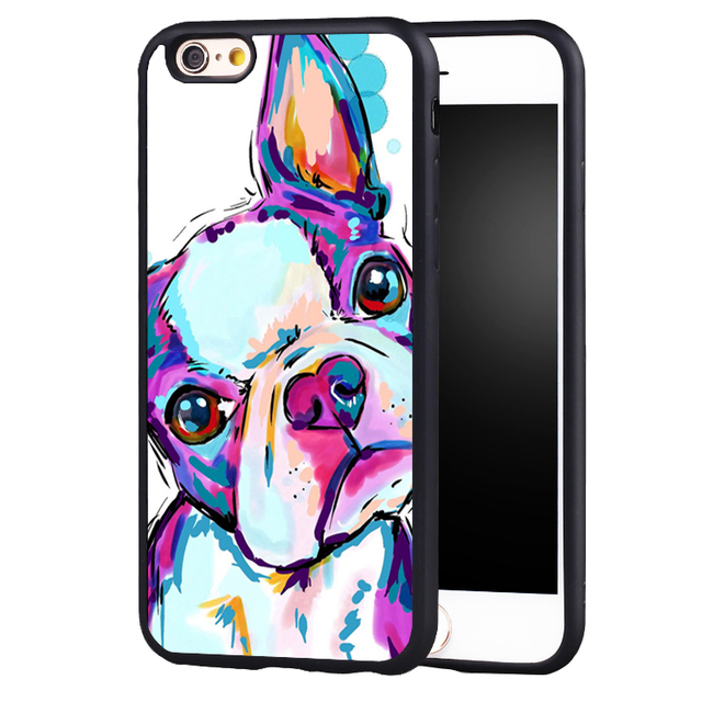 fc11eaea4a5 Pink Boston Terrier Dog phone Case cover for iPhone 7 7PLUS 6S 6PLUS ...