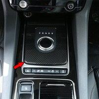 Car ABS Carbon Fiber Central Console Gear Shift Frame Cover Trim Panel Sticker for Jaguar XE X760 XF X260 F PACE X761 2015 2018