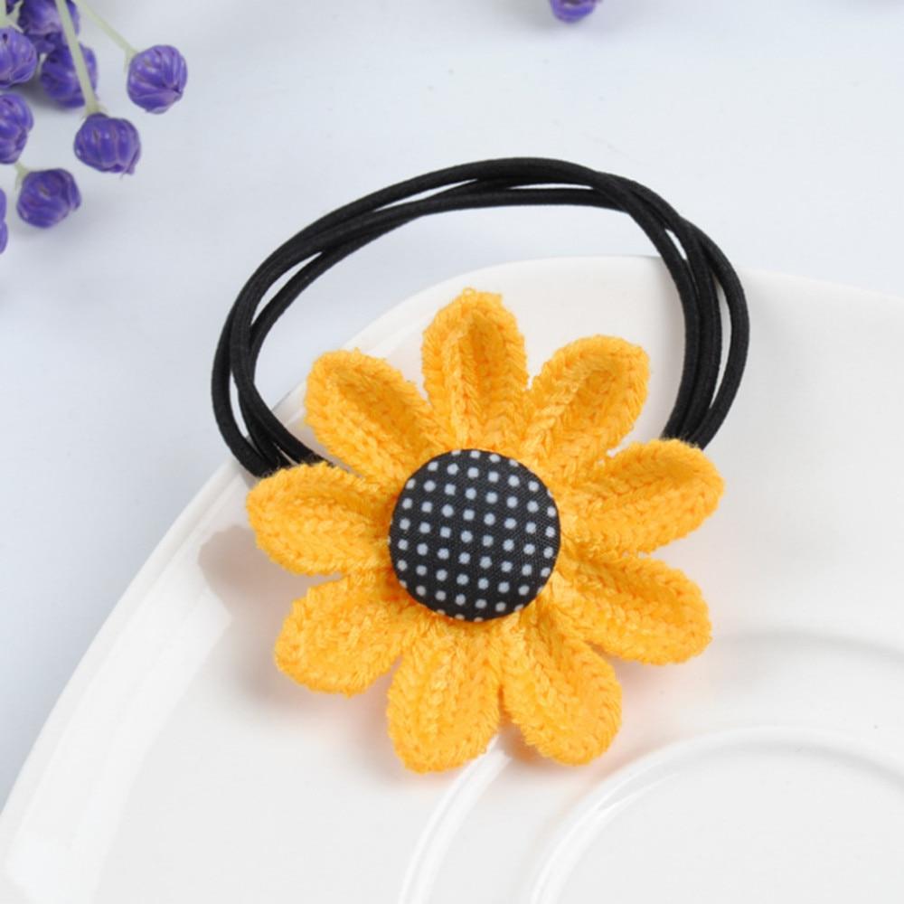 Cute Sunflower Hair Rope Elastic Hair Bands Scrunchies Girls Baby Hair Ties Rubber Band Hair Braiders 2