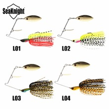 SeaKnight SK101 Spinner bait 10g 14g 1PC Sinking Fishing Lure Spinnerbait Jig Double Spoon Jigging Fishing Lure for Bass Fishing