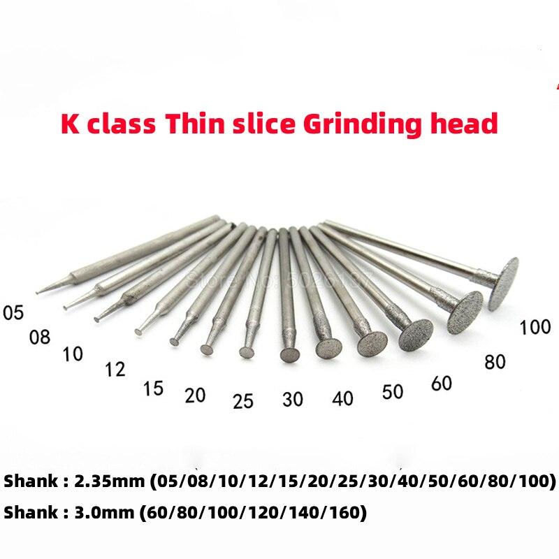 4Pcs 8mm Brazed Diamond Grinding Head Rotary Burrs Abrasive Tools Shank 6mm