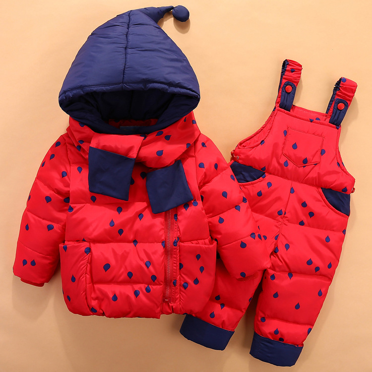19 Children Down Clothing Sets 2 PCS Coat + Trousers Winter Kids clothes Down jacket Suits Boys & Girls Hooded Outerwear Suit 6