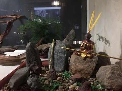 Noolim roxo argila macaco rei chá do animal de estimação kungfu chá conjunto cerimônia macaco rei backflow queimador incenso ornamentos de mesa