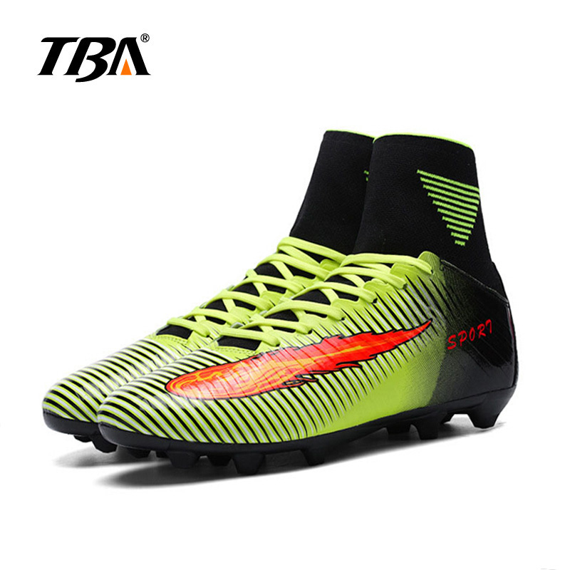 2017 TBA women Soccer Boots With Ankle Turf Shoes Big Size High Top Soccer Cleats Training