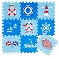 """Meitoku eva foam enigma do jogo do bebê mat for kids/9 pçs/lote encravamento piso enigma mat pad cada um: 30 cm x 30 cm = 12 """"x 12"""" 3/8 """"de espessura"""