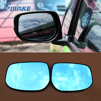 smRKE 2Pcs For Honda FIT Rearview Mirror Blue Glasses Wide Angle Led Turn Signals light Power Heating
