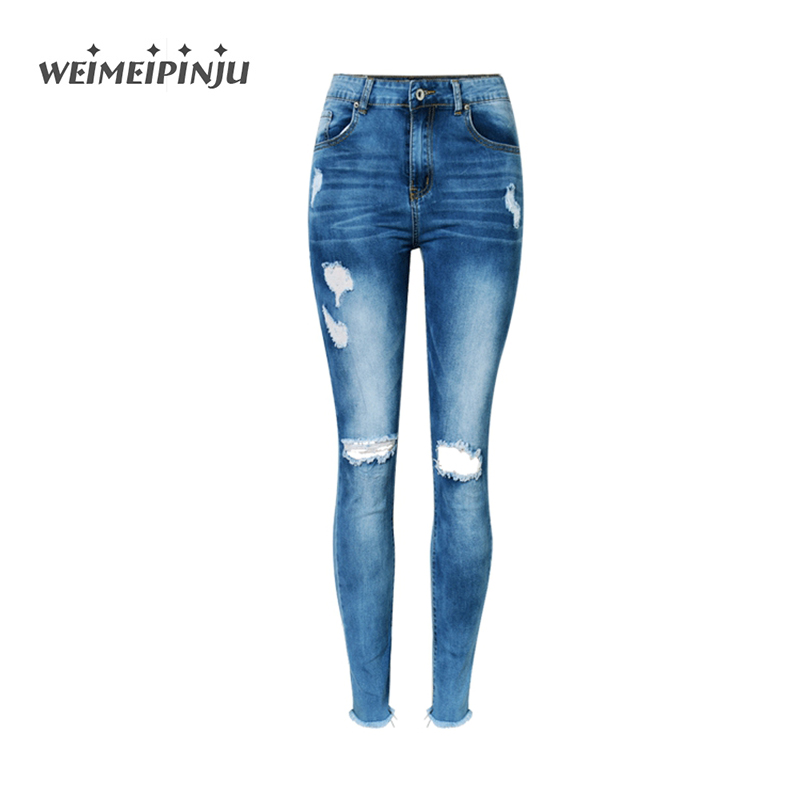 Weimeipinju Women Jeans 2017 Autumn Fashion Ripped Holes Sexy Jeans Woman Soft Cotton Stretch ...