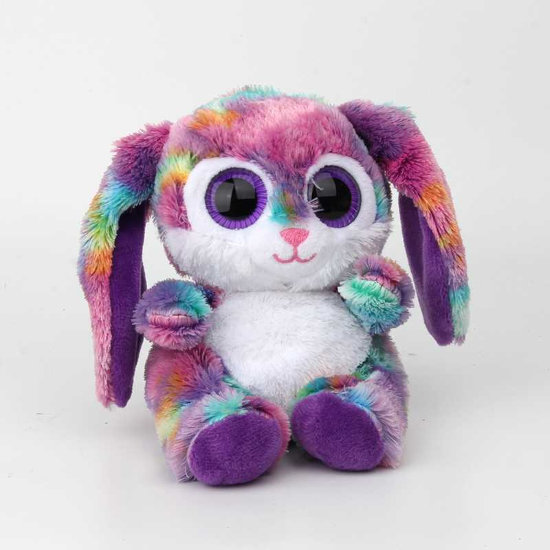 Big Eyes Plush Toy Doll Purple Rabbit Baby Kids Gift Mini Toys