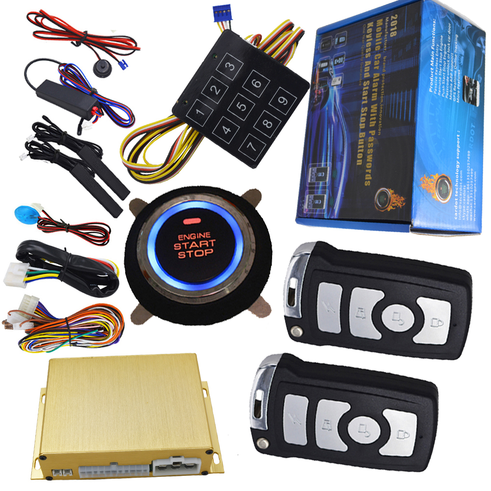car security alarm system with ignition engine start stop button smart key remote start engine rfid keyless entry car alarm auto passive keyless entry car alarm system with push button start stop engine remote start stop engine smart key switching