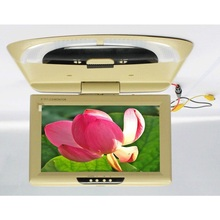 9 inch bus/car/taxi TFT LCD roof Mounting AV Monitor for DC 36V dual video input SH981 Beige