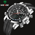 Relogio Masculino New WEIDE Brand Men Military Watch Sports Watches Men's Quartz LCD Analog Digital Clock PU Strap Wristwatch