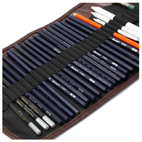 18x карандаши для рисования + угольный карандаш ластик комплект художественных промыслов для рисуйте наброски