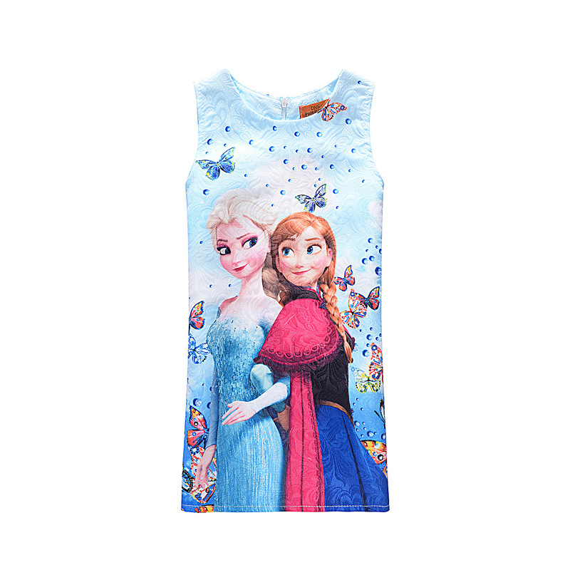 Customs Anna Elsa Baby Girl Dress NightDress Summer Cotton Child Baby Dress Girls Wear kids Clothes Children Dress Baby Clothes