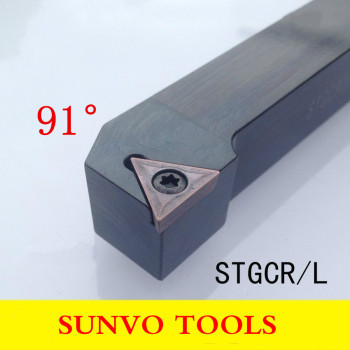 STGCR STGCL 1616H11/1616H16 CNC Screw Fastening External Turning Holder Use TCMT TCGT 110204/110208/160404/160408 CNC Insert image