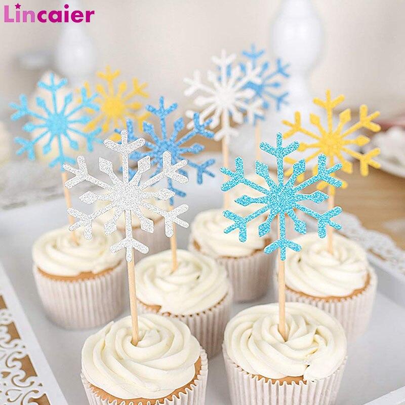 Decoraciones de fiesta de cumpleaños congeladas copo de nieve Cupcake Toppers suministros de fiesta de cumpleaños para niños vajilla desechable para cumpleaños Vestido de princesa de La Sirenita de las muchachas de voguek para niños disfraz de fantasía de Ariel de verano ropa de fiesta de playa de escala para niños