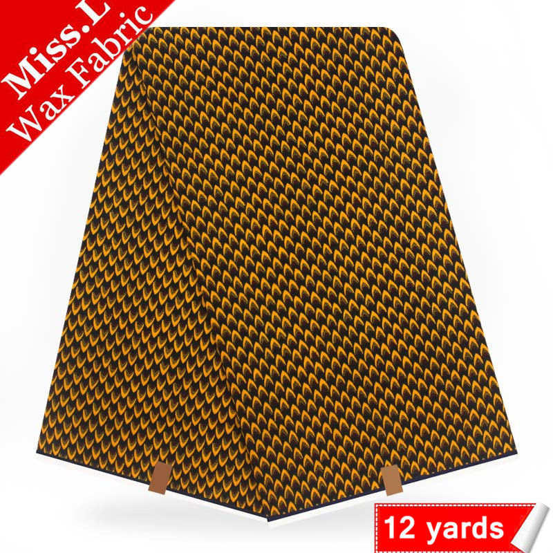 Miss L Most Popular African Wax Prints Fabric Veritable Wax 100 Cotton Dutch Real Wax 12