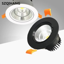 High Quality Dimmable LED COB Downlight AC110V 220V 7W/10W/15W/20W Recessed Spot Light lumination Indoor Decoration