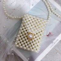 Hand made Luxury gold Clasp closure Glitter Rhinestone Beaded Crystal Crossbody Evening Bags party Clutch pearling Purse