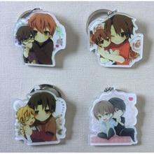 1pcs Otaku Fujyoshi BL Animation Junjou Romantica Takahashi Misaki Usami Akihiko Portachiavi Keyring keychain llavero Gift