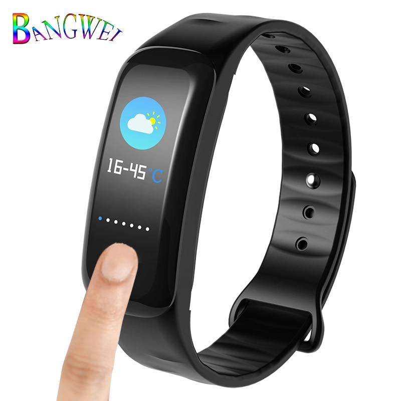 BANGWEI2018 New Smart Watch Oximeter Heart Rate Monitor Smart Watch Pedometer IP67 Waterproof Smart Watch + Box