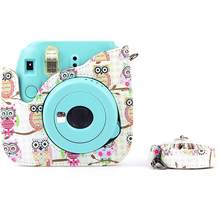 Owl Camera Case Shoulder Bag Holder for Polaroid Fujifilm Instax Mini 8+/8s/8 Good quality(China)