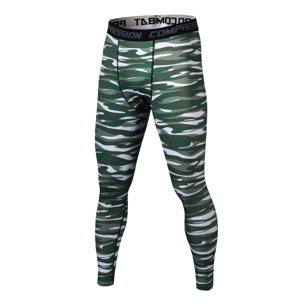 Brand Mens Compression Casual Pants Crossfit Tight Bodybuilding Army Camouflage Pants Base Layer Leggings Funny Skinny Pants Men