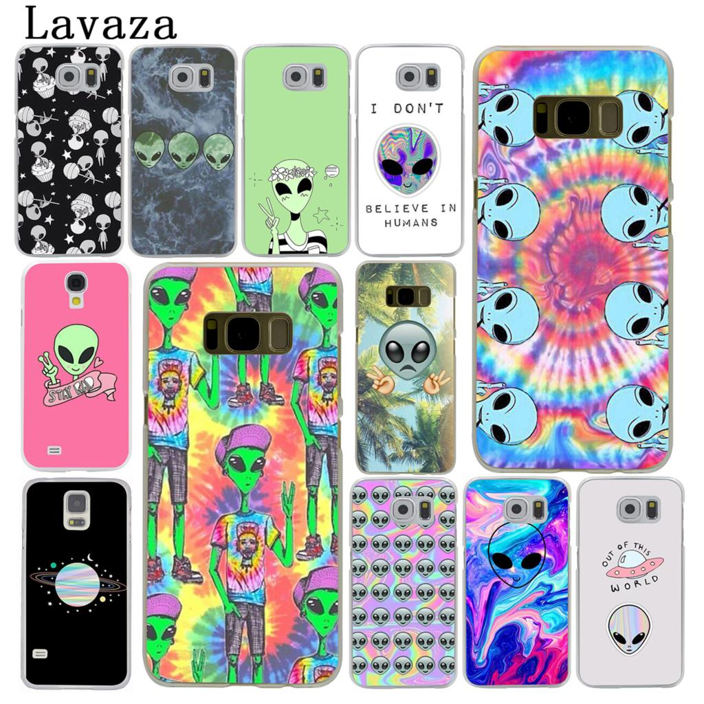 US $1 69 37% OFF Lavaza Trippy Alien emoji Hard Phone Case for Samsung  Galaxy S6 S7 Edge S8 S9 S10 Plus S10e Cover-in Half-wrapped Cases from