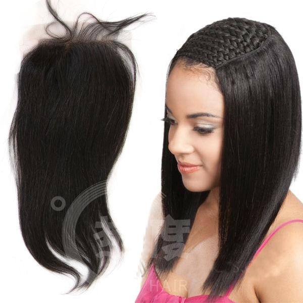Middle Part 4x4 8 20 Inch Top Grade Straight Malaysian Virgin