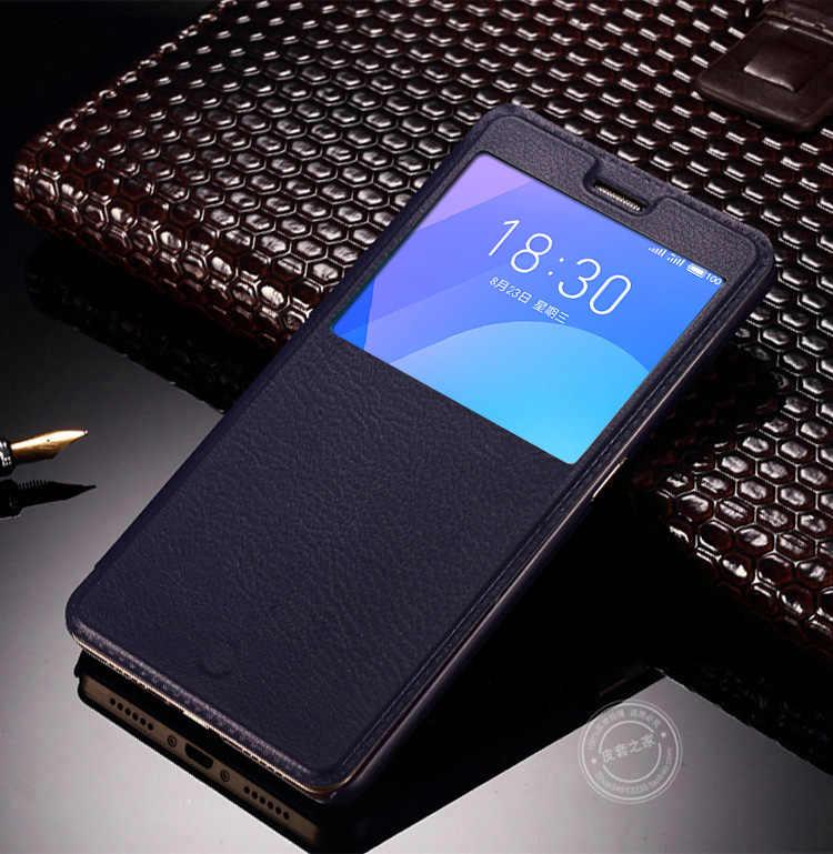 Luksusowy widok Windows skórzane etui z klapką do Samsung Galaxy J3 2017 J330F/DS SM-J330F/DS J330Fn SM-J330Fn Case dla J330